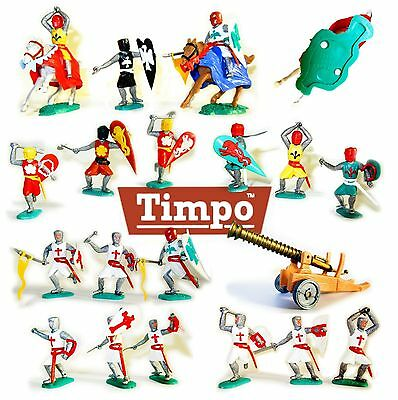 1960' Crusaders & Medieval Knights Toy Soldiers, by Timpo - Made in England