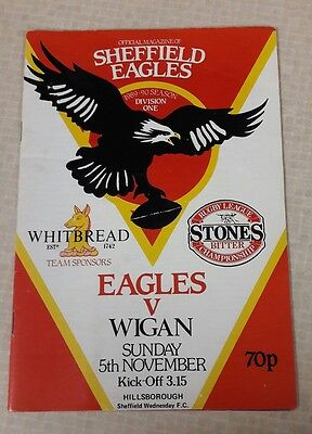 RUGBY LEAGUE - Sheffield Eagles v Wigan warriors - Nov 5 1989