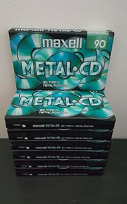 Maxell Metal-Cd 90 (×7) : New & Sealed