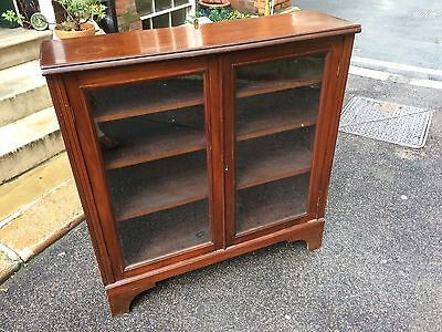 Victorian Glazed Bookcase or Display Cabinet