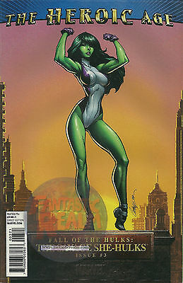 Heroic Age Fall of the Hulks: The Savage She-Hulks #3 Campbell Variant