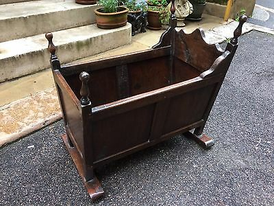 Victorian Mahogany Rocking Crib or Cradle