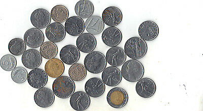 Italy Lot Of 31 Coins