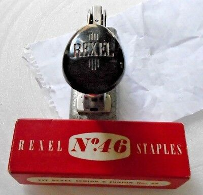 Vintage Rexel  no.46 Stapler fully working with Box staples