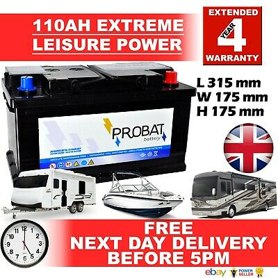 110ah Leisure Battery 12V 110AH 105 Battery for Motorhome / Caravan / Campervan