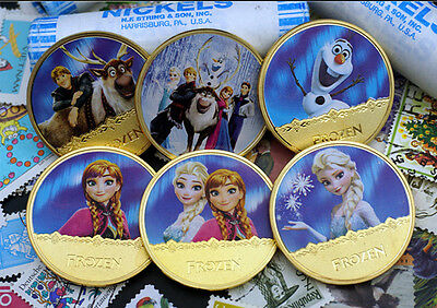 6pcs - New York coins (Frozen) commemorative coins (gold plating) 1 ounce