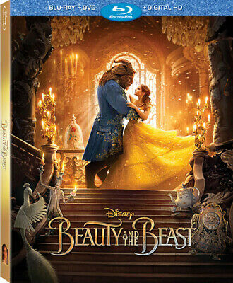 Beauty & The Beast (Live Action) - 2 DISC SET (2017, Blu-ray New)