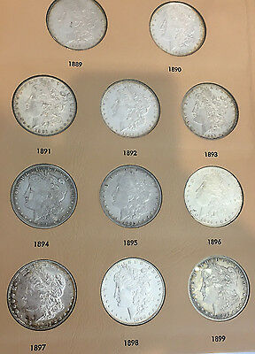 Morgan & Peace Dollar Complete Date Set Dansco Album One Coin From Every Year!