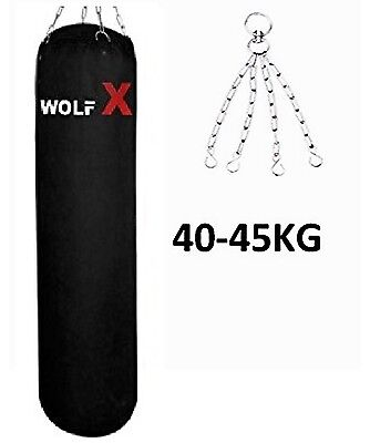 WOLFX 5ft Filled Heavy Punch Bag Hanging Chains,Boxing