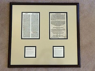 German Medieval Manuscript Pages from 1400s & 1500s Framed - Germany