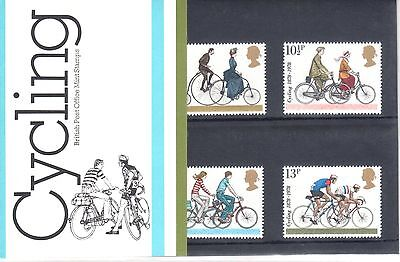"UK Presentation Pack 103 ""Cycling"", 4 stamps, MNH, 1978"
