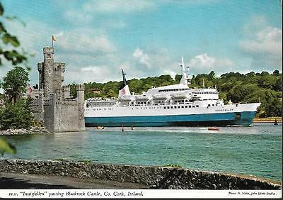 Blackrock Castle, Co. Cork - mv Innisfallen (ferry) -classic John Hinde postcard