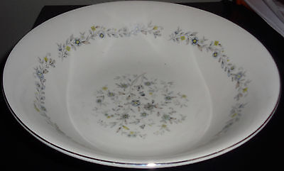 """Acsons Diamond China Chantilly 9 1/4"""" Round Serving Bowl Made In Japan"""