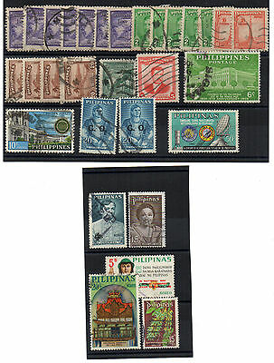 ** FILIPPINE, PHILIPPINES, PHILIPPINEN old & recent used stamps