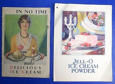 Vintage 1930 Lot of 2 Jell-O Ice Cream Powder Recipe Booklets ...In No Time