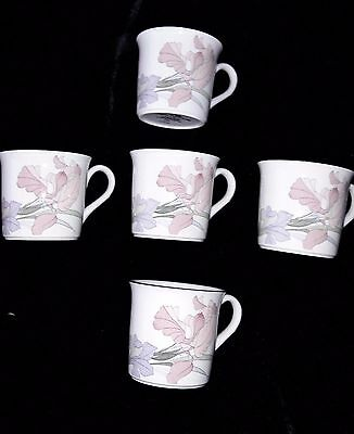 "5 NORITAKE NEW DECADE ""CAFE DU SOIR"" 9091 Mugs"