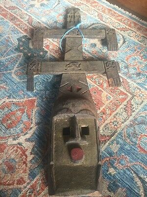 """Dogon Mask From Mali - Early-mid 1900s - Fine Detail, Nice Patina - 30"""" Tall!"""