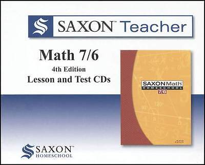 Saxon Math 7/6 Teacher CD-Roms Set Video Supplement to Homeschool Curriculum 76