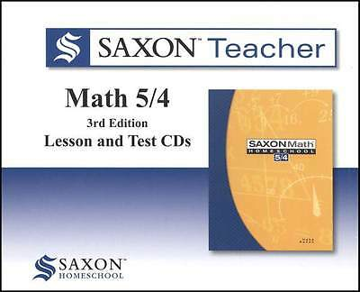 Saxon Math 5/4 Teacher CD-Roms Set Video Supplement to Homeschool Curriculum 54