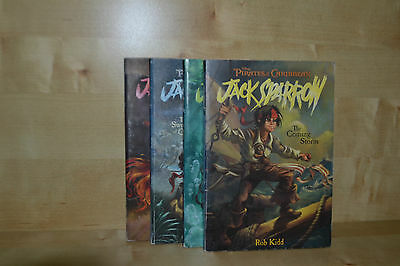 First Edition Pirates of the Caribbean Jack Sparrow Books 1 to 4 Rob Kidd RARE