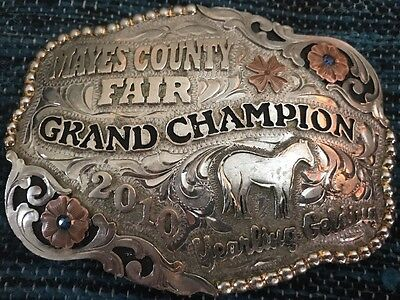 2010 Mayes County Fair Grand Champion Yearling Gelding Tres Rios Silver Buckle