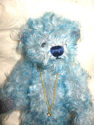 Amelie Deans's Rag Book Co Ltd Limited Edition turquoise tipped blue mohair bear