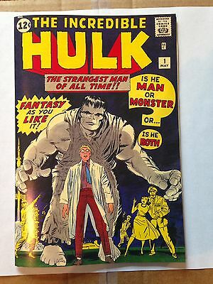 Incredible Hulk 1, 1962, Coverless with Reproduction Cover