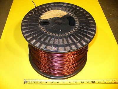 """Electric Magnet Wire - Phelps Dodge - Magnetic Wiring Winding .085"""" 12 -11.5 Awg"""