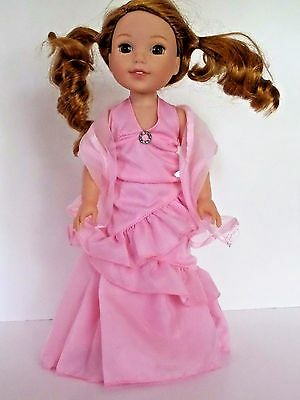 "Pink Ball Gown Fits Wellie Wishers 14.5"" American Girl Clothes"