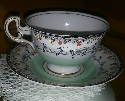 Funky vintage adderley bone china cup & saucer