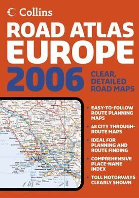 2006 Collins Road Atlas Europe Paperback Book The Cheap Fast Free Post