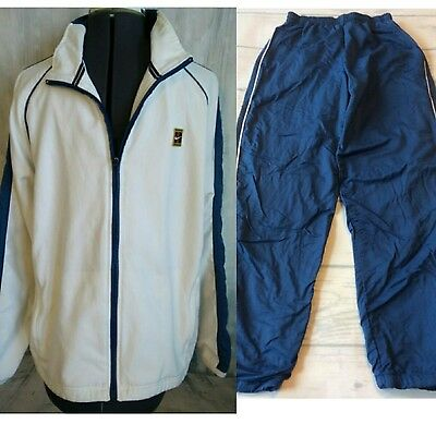 Nike Mens 90s Vintage Track Suit Size S Small Jacket Nylon Pants Blue Warmup Set