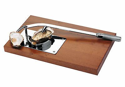 OYSTER SHUCKER TABLE TOUR PROFESSIONAL with WOOD e STAINLESS STEEL