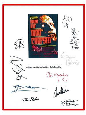House Of 1000 Corpses Script Signed Sid Haig  Bill Mosley  Sheri Moon Zombie