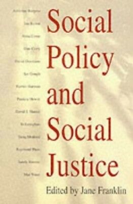 Social Policy and Social Justice Paperback Book The Cheap Fast Free Post