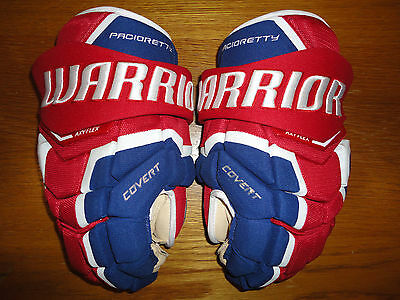 """Warrior Covert QRL Pro Stock Hockey Gloves, 14"""" - Max Pacioretty, Canadiens"""