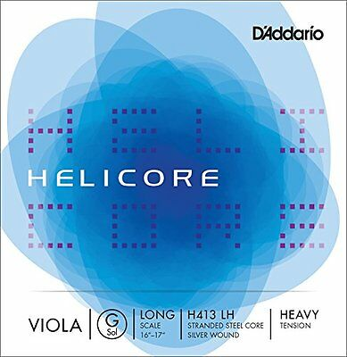 D'Addario HELICORE H413-LH long scale heavy G-string Silver wound / Viola