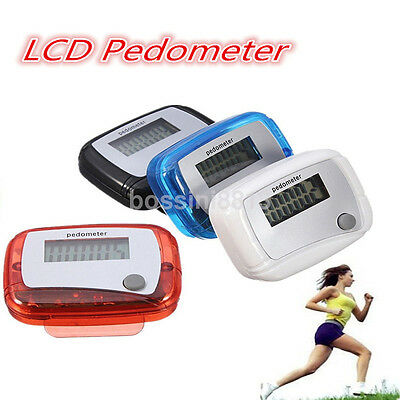 Mini LCD Digital Step Pedometer Run Distance Calorie Walking Counter Pocket Clip