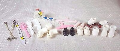 24 Piece Vogue Ginny Doll Shoes, Sunglasses, Ice Skates and Accessories 80s