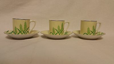 1935 AU/NZ Green Mark Noritake Coffee Bins X 3