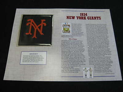 1934 New York Giants Cooperstown Collection Patch Lot1875