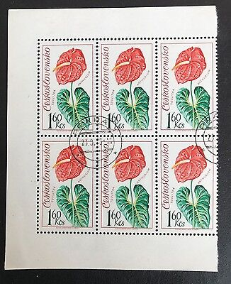 Czechoslovakia 1973 - SG2112 1k.60 Anthurium Block of 6
