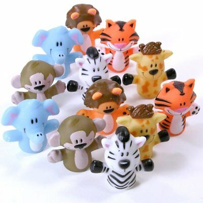 Animal Finger Puppets Plastic Hand Toys Educational Set Animals Doll Baby Kids