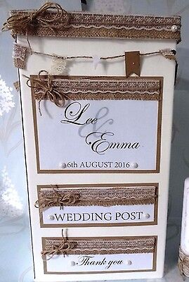 Wedding Post Box/ Mail Box/ Personalised Shabby Chic Vintage