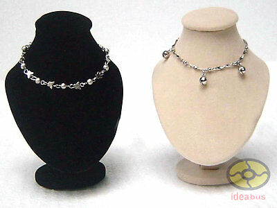 "Pair=2pcs 5""tall Bust Mannequin Necklace Pendant Jewelry Display Stand Holder"