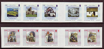 Isle Of Man 2004 National Heritage Set Of 10 S/a  In Strips Unmounted Mint