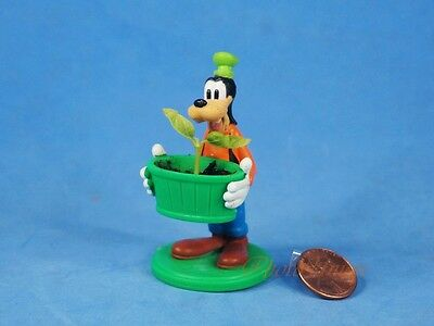 Cake Topper Decoration Disney Goofy Gardener Mini Flower Pot Figure K1215 A