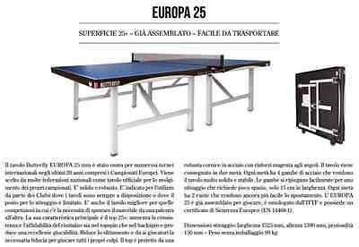 Tennis Tavolo ping pong butterfly europe 25/S