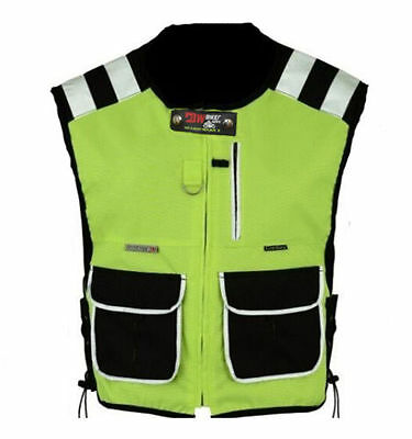 Motorcycle, Cycle, Security Water Resistant Hi Viz Vest Waistcoat 2 Black Pocket
