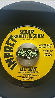 LIL' RAY 45 RE - SHAKE!SHOUT! & SOUL! -KILLER 60s LIVE IMPACT MOD SOUL ROCKERS